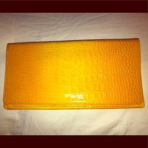 Nordstrom Yellow Envelope Clutch.
